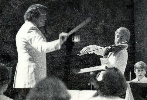 Na koncertě vítězů v Greensboro, USA, 1987