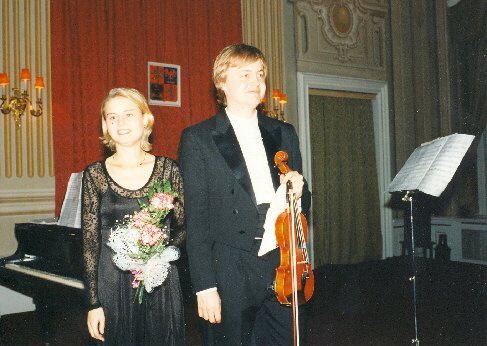 S Věrou jsme hráli koncerty pro dvoje housle, 1996