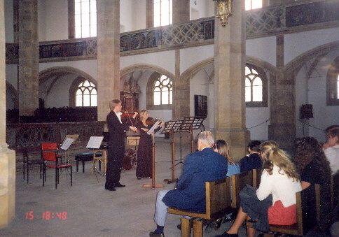 Zaněla i Sonáta pro dvoje housle od S. Prokofjeva, 1997