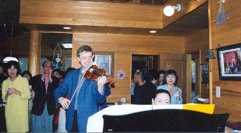 Pavel Eret s klavíristkou Emiko Morimoto, 1999