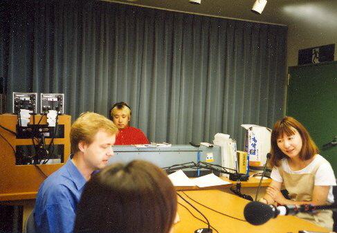 Pavel Eret v rozhlase v Kumamoto, 2000